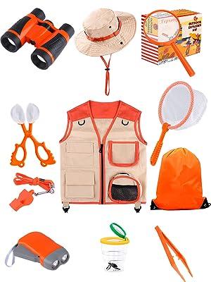 kids explorer kit outdoor adventur bug catcher kit bug collector container safari vest custome