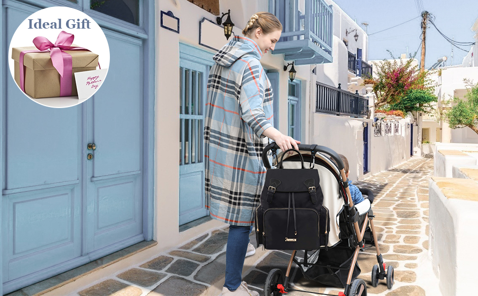 Hafmall Multi-Funcation Nappy Changing Backpack