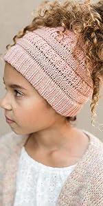 kids girls toddler ponytail beanie messy bun beanietail hat cap child infant baby long hair daughter