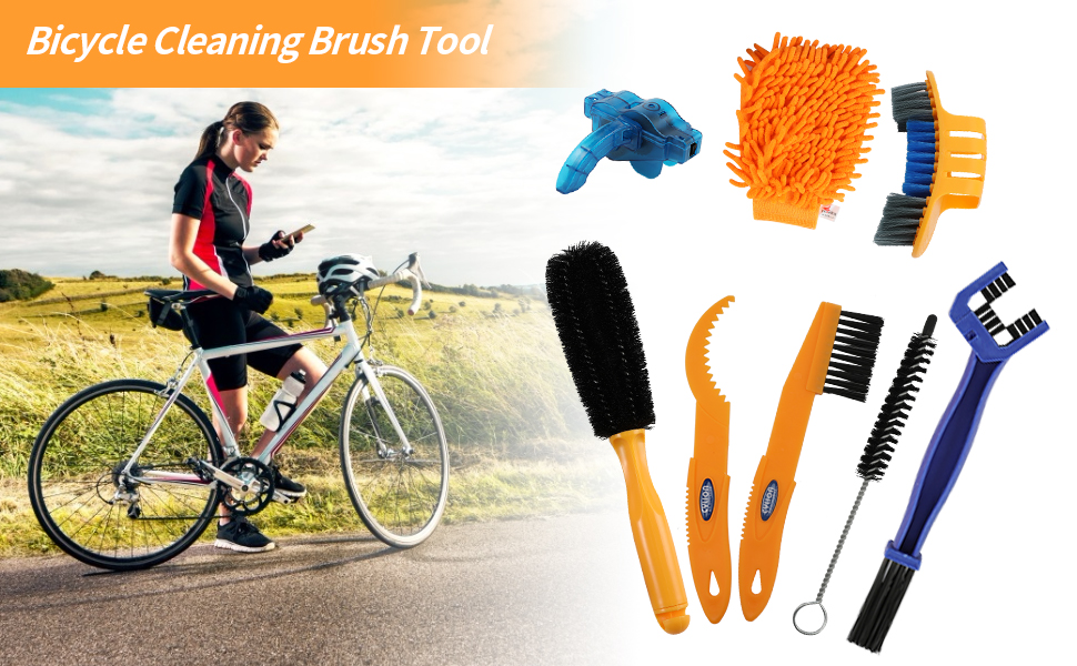 Bicycle Cleaning Brush Tool