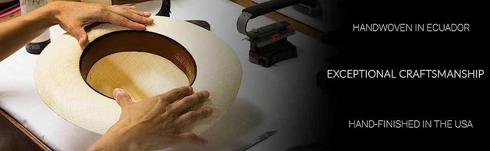 Hat Creation Making Finish Hand Hands Handwoven woven Handfinish hat panama straw fedora
