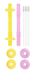 giftty teething tube with safety shield