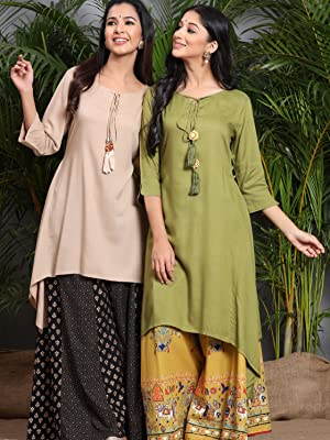 basic kurta, daily wear kurta, solid kurta, asymmetric kurta