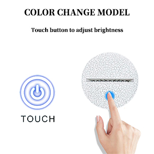 touch button brightness color