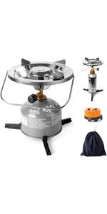 Odoland Utensilios Cocina Camping Kit con Ollas Camping y ...