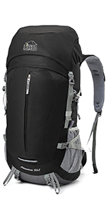 Aveler 50L Unisex Lightweight Nylon Internal Frame Backpack with Integrated Rain Cover Nylon