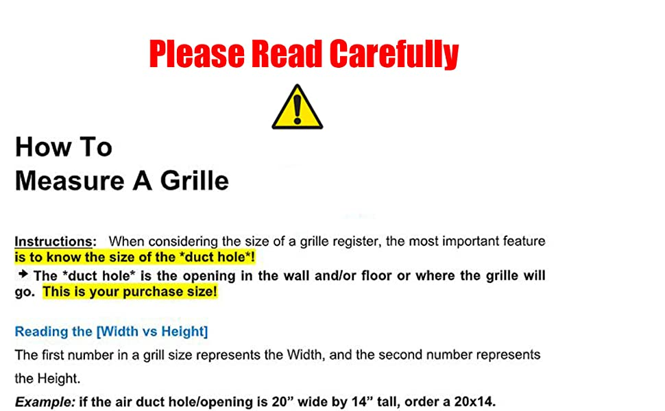 how to measure a grille
