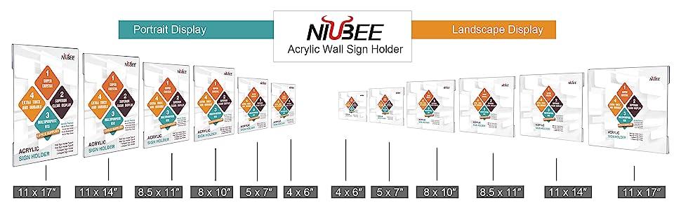 acrylic wall sign holder