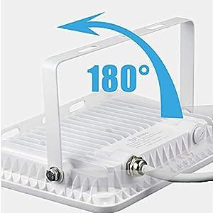 POPP® Foco Proyector LED 30W para uso Exterior Iluminación Decoración 6000K luz fria Impermeable IP65 Blanco transparente y Resistente al agua.PACK x2 (30): Amazon.es: Iluminación
