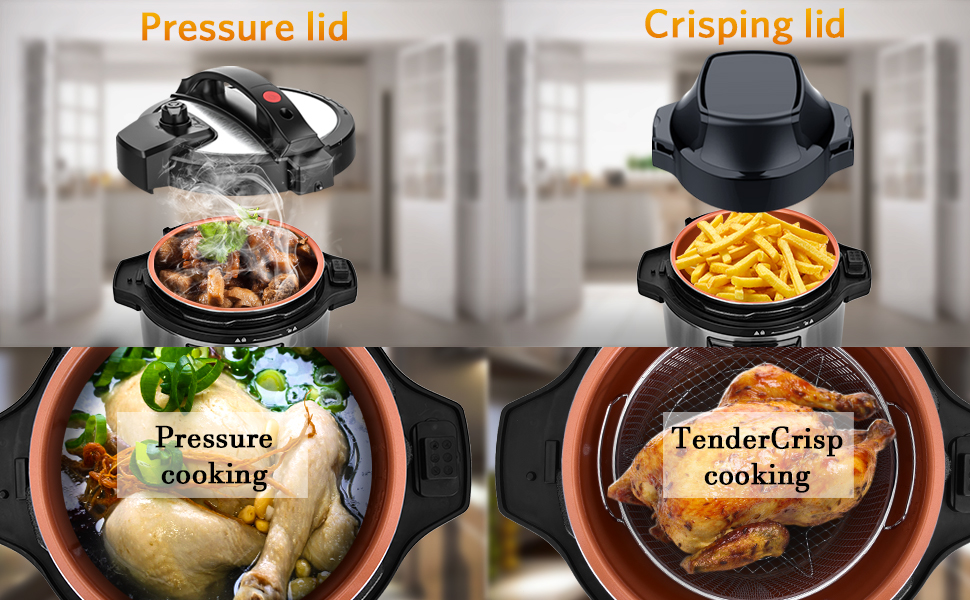 pressure cooker and air fryer