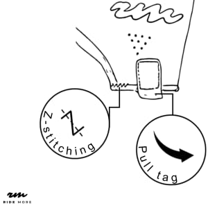 Profi Roller Handschuhe - pulltag und z-Nähte