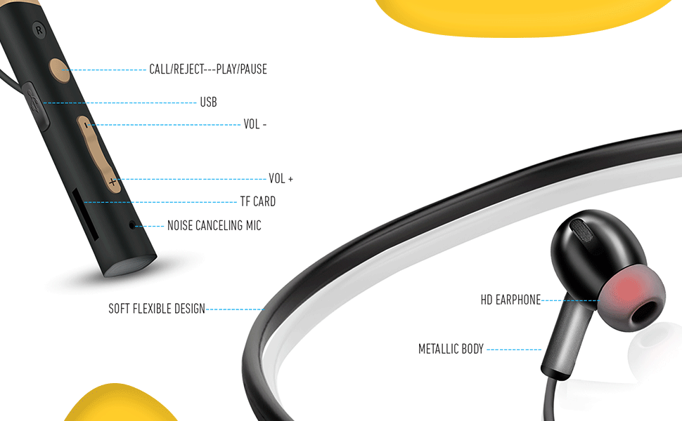 B08KDM98ZH UBON CL-5300 Wireless Neckband Earphone SPN-FOR1