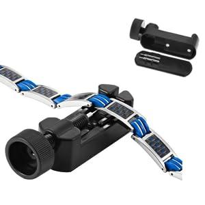 Easy to use size adjusting tool and titanium bracelet