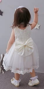 christening lace baby toddler girl dress