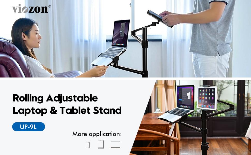 rolling adjustable laptop & Tablet stand