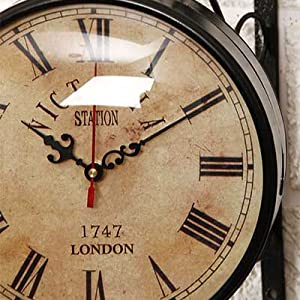 wall clock victoria big size double side watch london clock vintage double sided clock