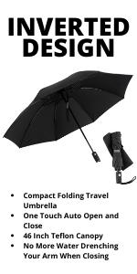 Inverted umbrella auto open and close