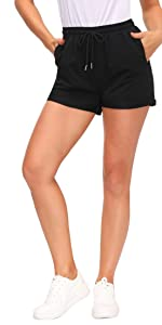 Women's Summer Beach Shorts Casual Sweat Athletic Shorts with Drawstring