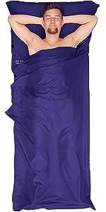 Hüttenschlafsack, Innenschlafsack, Mikrofaser Schlafsack Inlay, Inlett Schlafsack, Reiseschlafsack