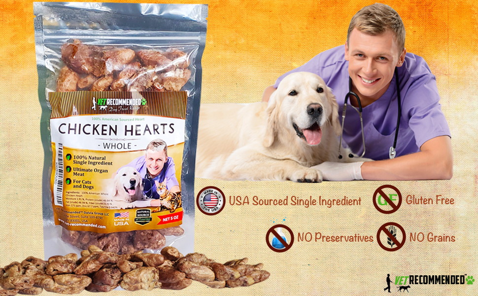 Chicken Hearts for Dogs and Cats