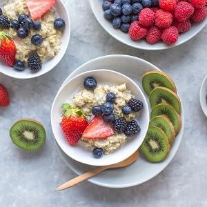 Gachas de Avena Proteicas de HSN Foods | Porridge Proteico Apto para la Dieta Vegetariana | Fácil y Rápido de Preparar | Con Proteína de Suero y Leche ...
