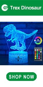 easuntec Trex Dinosaur 3d led illusion lamp