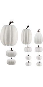 12 Pack Thanksgiving White Pumpkin Decorations