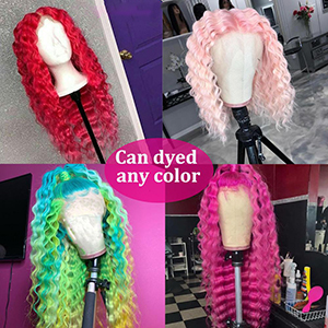 613 deep wave wig can be dyed any color