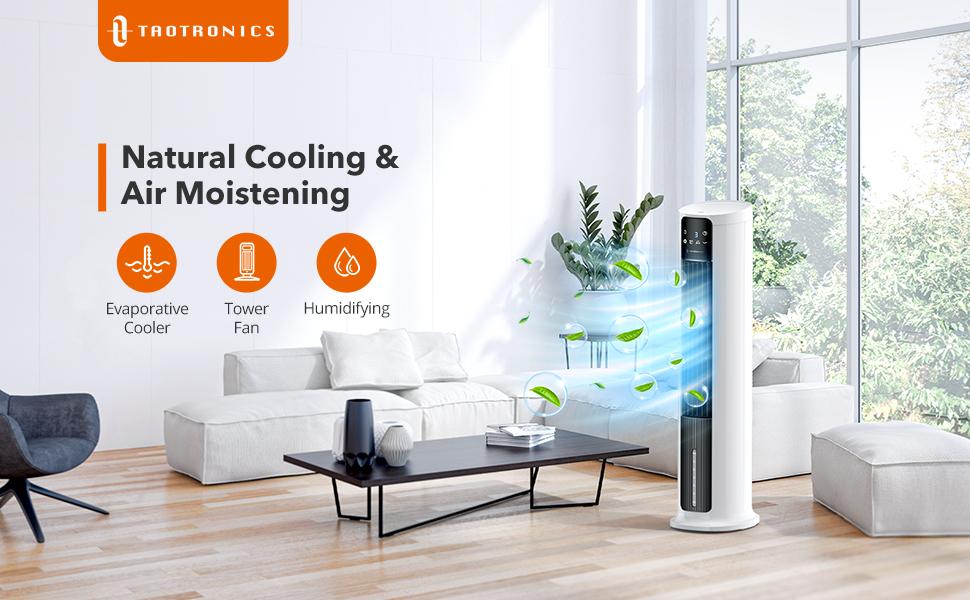 Multipurpose Evaporative Cooler | Tower Fan | Humidification