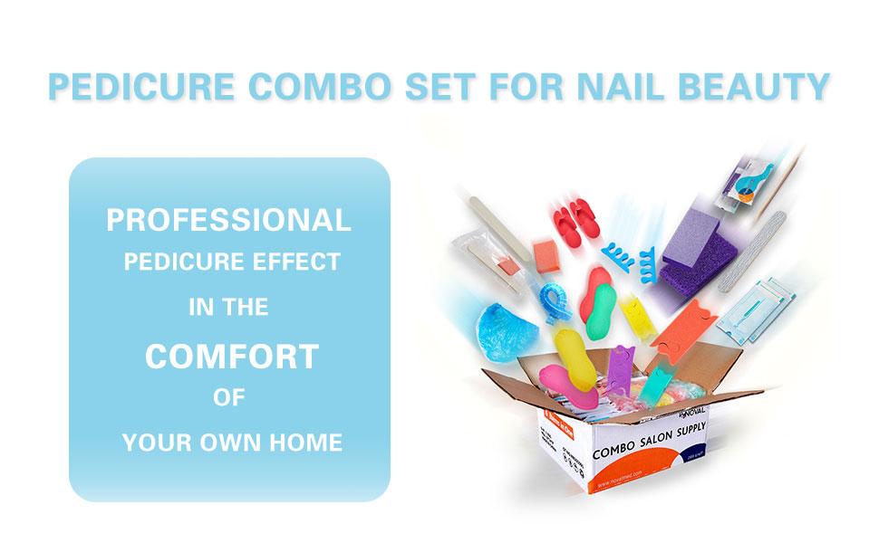Pedicure Kit, Manicure Kit, Pedicure Liner, Pedicure Slippers, Toe Separator and Sterilization Pouch