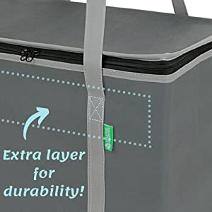 creative green life handles wrap around bottom of insulated bag