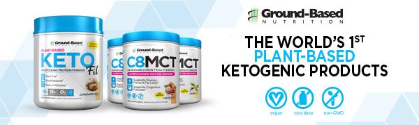 keto plant based protein powder ketofit natural dairy free mct oil vegan