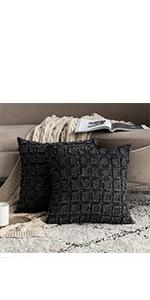 buffalo check plaid pillows black classic