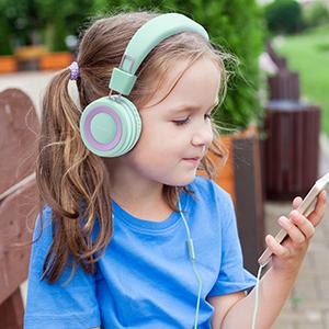 wired kids headphones