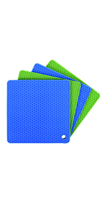 flexible and heat resistant pot holders and hot pads
