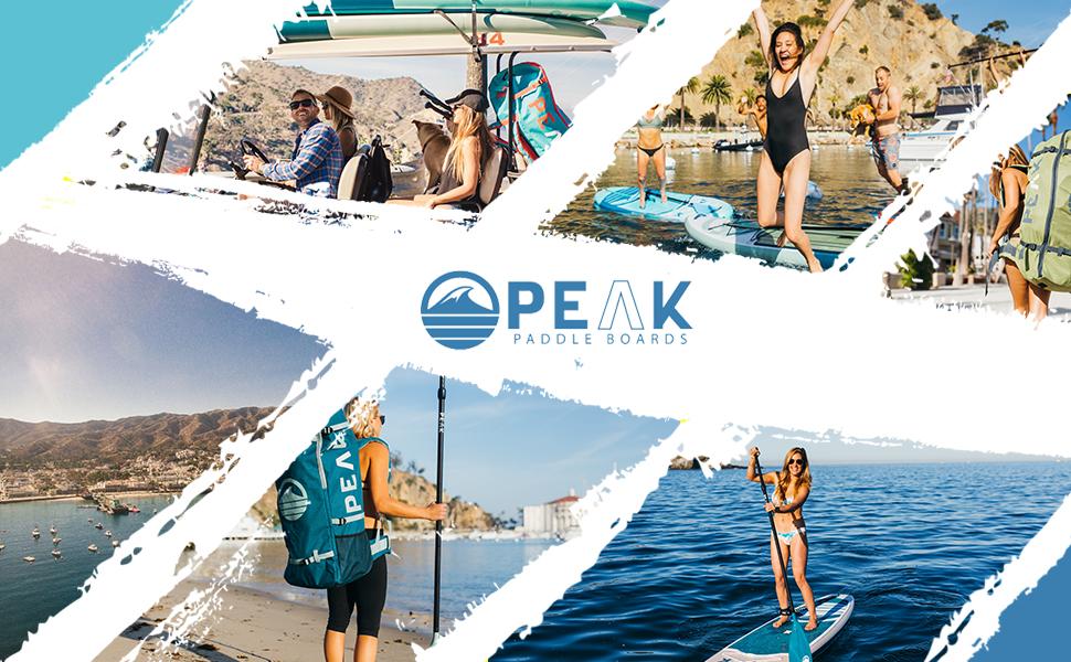 Peak paddle boards having fun San Diego ocean lake river open water sun sand beach surf travel