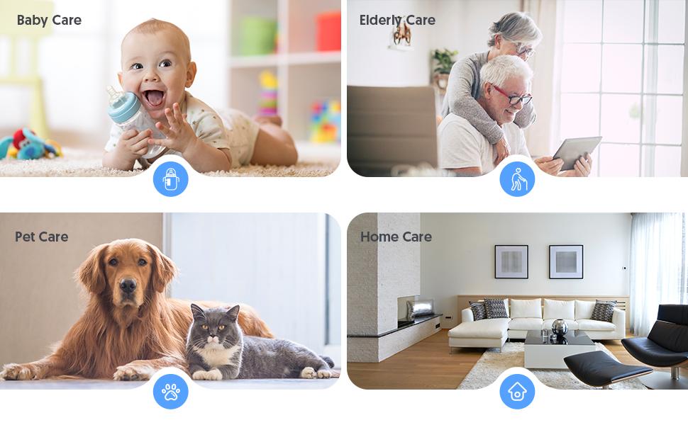 Flashandfocus.com 79753403-89c5-4961-8b8d-9169bfd3eeba.__CR0,0,970,600_PT0_SX970_V1___ [2021 Upgraded] Victure 1080P Pet Camera, WiFi Camera, Indoor Security Camera for Pet, Baby, Elder, 2.4G Home Camera…
