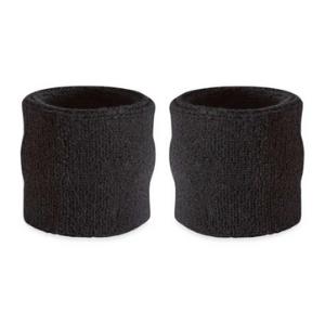 wrist sweatbands pair set sweat management cotton wristband terry thick soft