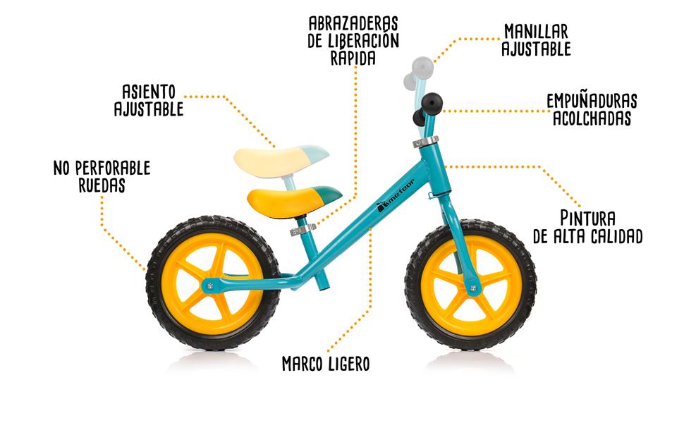meteor Bicicleta sin Pedales Mini Bici Bebé Equilibrio con Sillín ...