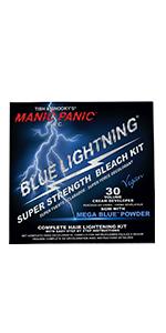Blue Lightning Hair Bleaching Kit- 30 Volume w/ Mega Blue Powder