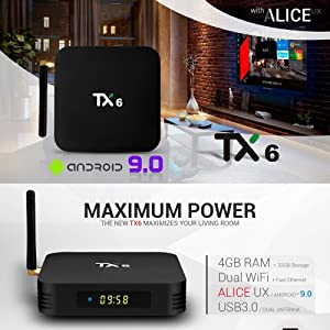 TX6 TV BOX 4K Android 10.0 TV box