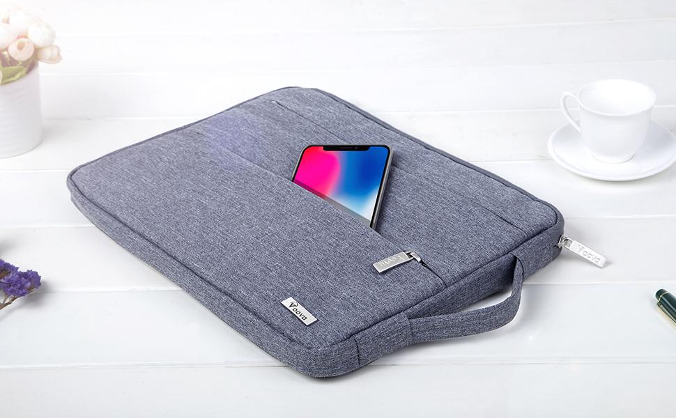 Voova bolsa para laptop de 15 pulgadas gris