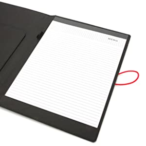 travel fabric notepad with elastic band closure padfolio portfolio briefcase office supplies