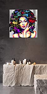 AMEMNY African Woman Wall Art