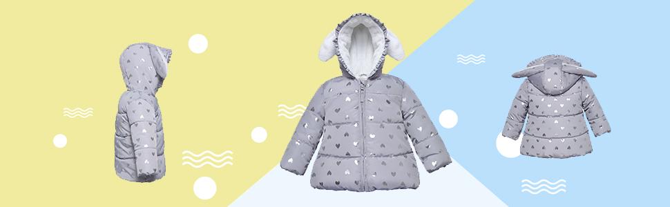 bunny rabbit puffy jacket girls baby toddler infant