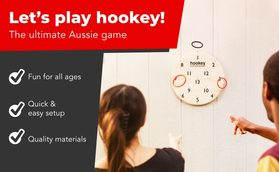 Let's play hookey! The Ultimate Aussie game. Fun for everyone with quick and easy set up.