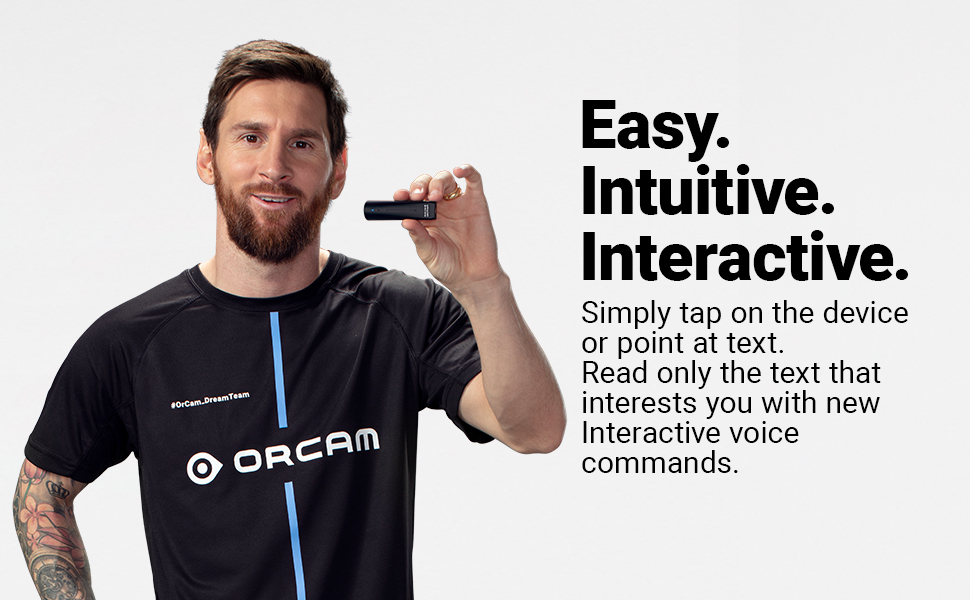 The Most Advanced Wearable Assistive Device for the Blind and Visually Impaired OrCam MyEye 2 Color /& Product Identification and More. Facial Recognition Increasing Independence with Text Reading