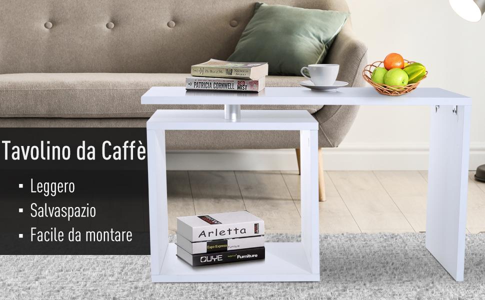 tavolino caffe homcom