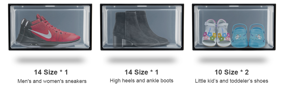 Can hold Size 14 shoes