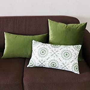 olive lumbar pillow covers